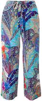 Etro printed straight trousers - women - Silk - 40