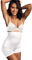 Flexees Maidenform Women's Shapewear Minimizing Hi-Waist Boyshort , White, Medium