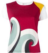 RED Valentino wave print T-shirt - women - Cotton - S