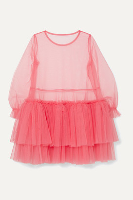Molly Goddard Tiered Tulle Mini Dress - Pink