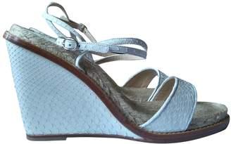 Paul Andrew White Python Sandals