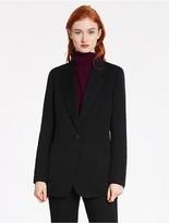 CK Calvin Klein Single Button Long Jacket