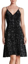 Dress the Population 'Gemma' Sequin Fit & Flare Dress