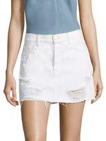 J Brand Bonny Distressed Denim Mini Skirt