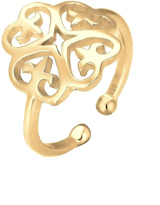 Elli Ring 925 Sterling Silver Gold-Plated Ornament