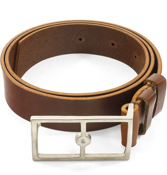 Anchor & Crew Papaya Brown Original Belvoir Leather & Nickel Belt