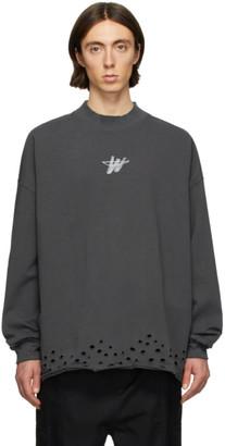 we11done Grey WD Logo Sweater