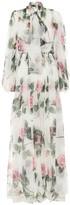 Dolce & Gabbana Floral silk-chiffon gown