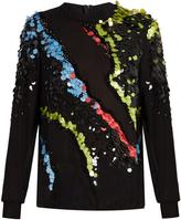Versace Paillette-embellished silk-georgette top