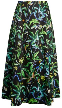 Jason Wu Collection Printed Poplin A-Line Skirt