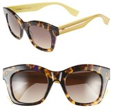 Fendi Women's 50Mm Retro Sunglasses - Brown/ Havana