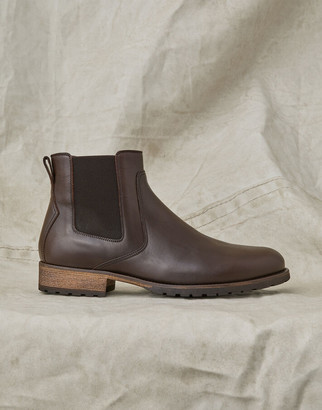 Belstaff RODE LEATHER BOOTS Brown UK 6 /