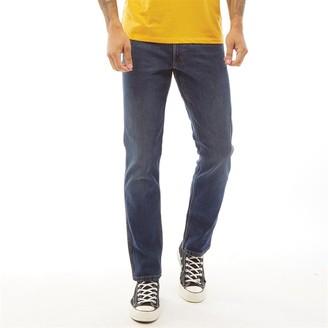 Wrangler Mens Greensboro Straight Fit Jeans Indigo Wit