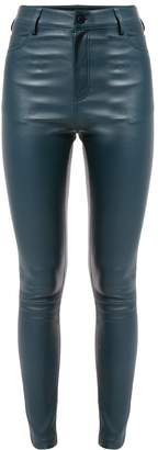 Drome high-waisted leather trousers