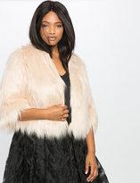 ELOQUII Plus Size Studio Faux Fur Jacket