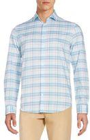 Calvin Klein Regular-Fit Plaid Cotton Sportshirt