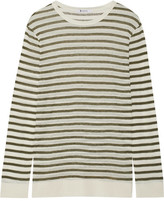 Alexander Wang Striped Jersey Top - Army green