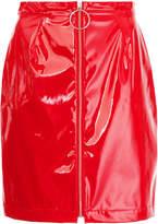 G.V.G.V. patent PU mini skirt