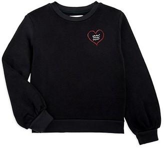 Sol Angeles Little Girl's & Girl's Rebel Heart Graphic Sweatshirt