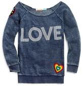Vintage Havana Girls' Love Appliquéd Fleece Sweatshirt - Sizes S-XL