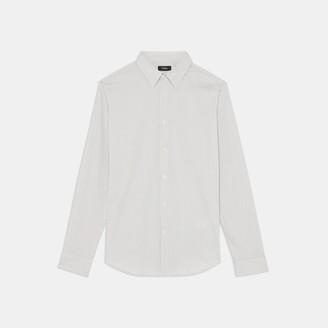Theory Sylvain Shirt in Pinstripe Good Cotton