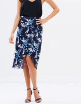 Oasis Tropical Botanical Midi Skirt