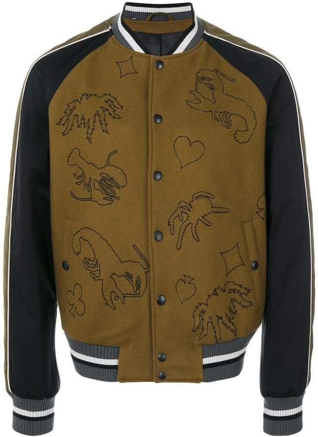 Lanvin scorpion patch bomber jacket