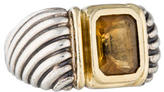 David Yurman Two-Tone Citrine Cocktail Ring