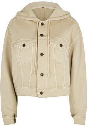Free People Dreamers Stone Cropped Jersey Jacket