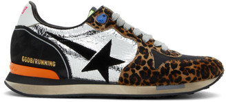 Golden Goose Brown and Black Running Sneakers