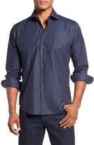 Toscano Men's Regular Fit Check Sport Shirt