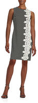 Tommy Hilfiger Embroidered Panel Striped Shift Dress
