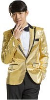 MYS Men's Gangnam Style Bling Sequins Party Tuxedo Suit and Pants Set Size Custom Made