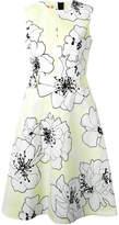 Marni floral flared dress