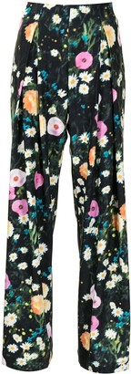 Stine Goya Lolle floral print trousers