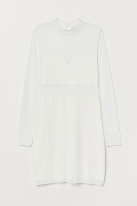 H&M Fitted Dress - White