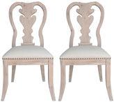 One Kings Lane Stonewash Linen Side Chairs, Pair