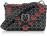 RED Valentino Black and Red Studded Shoulder Bag