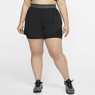 Nike Women's 2-in-1 Shorts (Plus Size Pro Flex