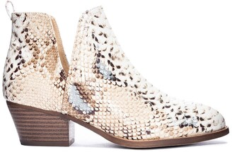 Chinese Laundry Cherish Snakeskin Embossed Ankle Bootie