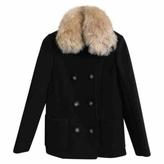 Balenciaga Pea coat w Alpaca collar