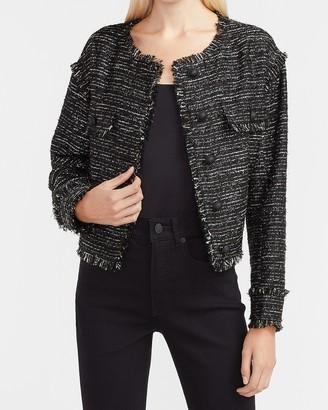 Express Drop Shoulder Tweed Blazer