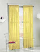 No. 918 Calypso Sheer Voile Rod Pocket Curtain Panel, 59 x 84 Inch, Yellow