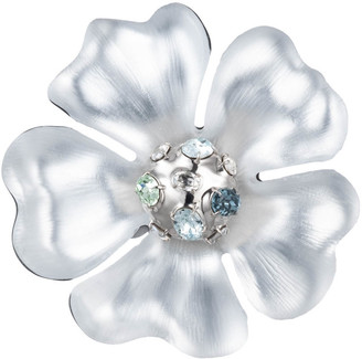 Alexis Bittar Liquid Rhodium Flower Pin