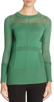DKNY Sheer Panel Sweater