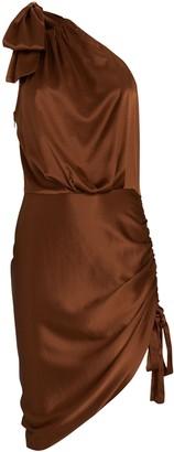 retrofete Nadia One-Shoulder Mini Dress