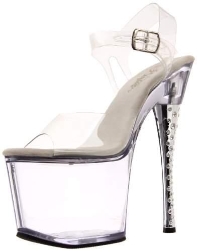 Pleaser USA Women's Diamond-708/C/M Platform Sandal