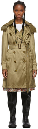 Burberry Beige Nylon Kensington Trench Coat