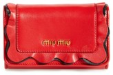 Miu Miu Women's Rouches Nappa Leather French Wallet - Ivory