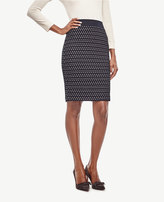 Ann Taylor Geo Tweed Pencil Skirt